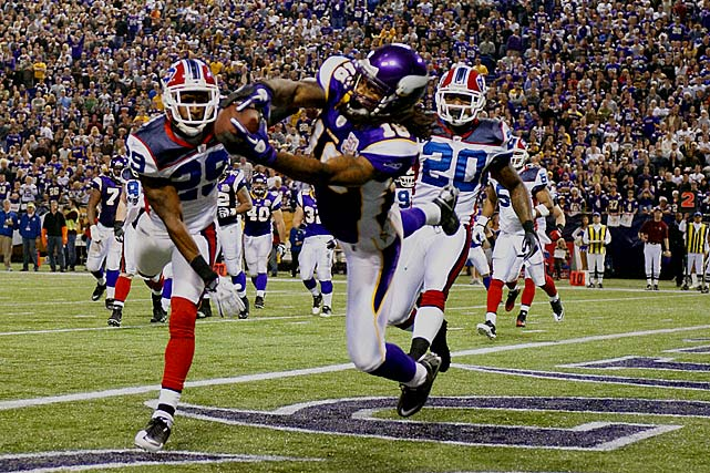 In 2009, the Vikings had a Hall of Fame quarterback and one of the best RBs in the game, but they couldn't take the team to the NFC Championship without Sidney Rice. He had 1,312 receiving yards in '09 before suffering a hip injury that cut this past year short.