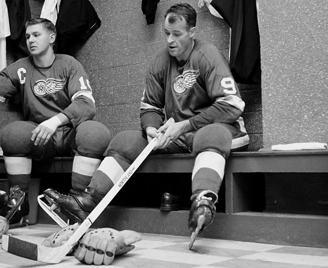 Even Mr. Hockey, the NHL's most prolific scorer until some guy named Gretzky came along, had tough times with the title on the line. In 1948, his second season and first Cup final appearance, Howe failed to record a point as Detroit swept Toronto. In 1949, he tallied two assists as the Wings were swept by the Leafs. In 1966, his 10th and last Cup final, the 38-year-old six-time Hart Trophy-winner came off a solid 29-goal, 76-point season and was held to a goal and an assist in a six-game loss to Montreal that gave the defending champion Habs the Cup. And it's not that Gordie was washed-up by then. He played another five years for the Red Wings, scoring 44 goals and 103 points in 1968-69 before retiring in 1971 and later continuing his career with another six seasons in the WHA plus one more in the NHL.