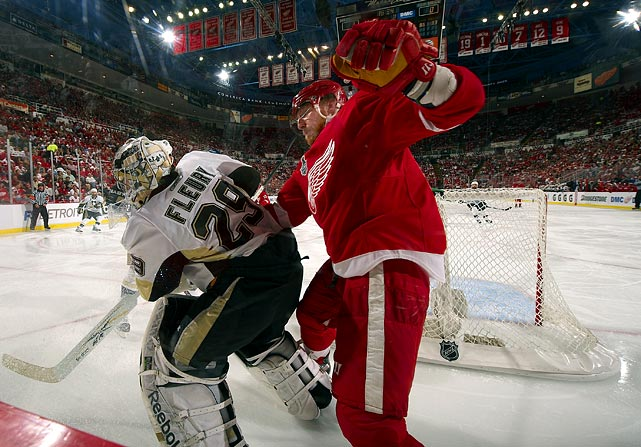 After leaving the Penguins following their loss to Detroit in the 2008 Cup final, the Red Wing sniper scored 40 goals during the regular season and found himself confronting his former team for the championship. To his exasperation, Hossa was held to a mere three assists in seven games as the Penguins stormed back from a two-games-to-none deficit to capture the Cup.