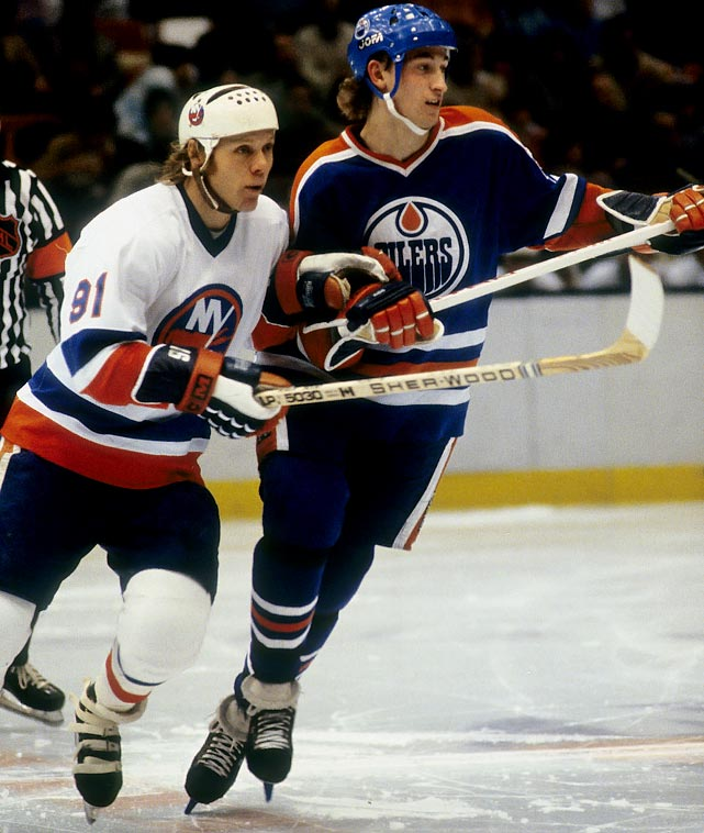 The Great One, who'd scored a whopping 71 goals and 196 points during the regular season, led his up-and-coming Oilers into their first Cup final and was promptly stoned by the three-time defending champion Islanders and their Conn Smythe-winning goaltender, Billy Smith. Gretzky had only four assists in New York's sweep. His sidekick, Mark Messier, a 106-point scorer, was held to one goal and an assist.