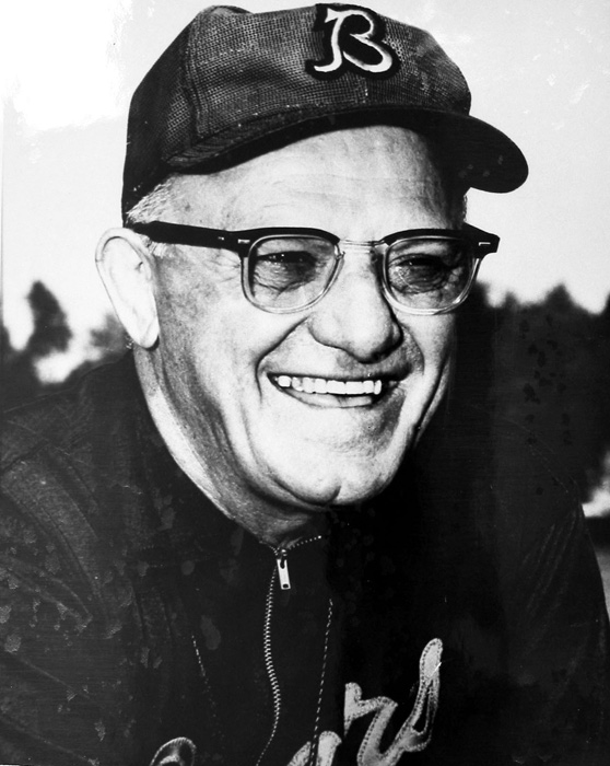 "Nicknamed ""Papa Bear,"" the legendary former Bears coach and owner is known as one of the pioneers of the NFL. Halas invented the T-Formation, was the first coach to hold daily practices and came up with the idea of revenue sharing between teams, a concept that has made the NFL the most powerful league in sports today. Halas took over the Bears in 1920, when they were the Decatur Staleys. He moved them to Chicago, where he coached for the next 47 years, eventually retiring when he was 70."