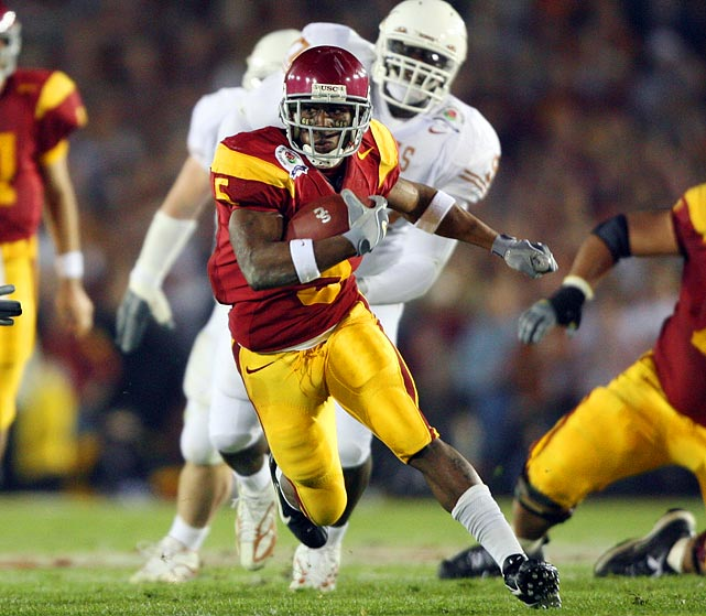 While at USC, Reggie Bush was adored by Trojans fans as one of the fastest and most exciting players to ever wear the cardinal and gold. But an NCAA investigation into alleged rampant corruption in the USC program  -- especially in terms of gifts Bush had received -- led to a two-year bowl ban and other penalties in 2010 and the BCS stripping USC of its 2004 national title in 2011. Bush voluntarily gave back his 2005 Heisman.