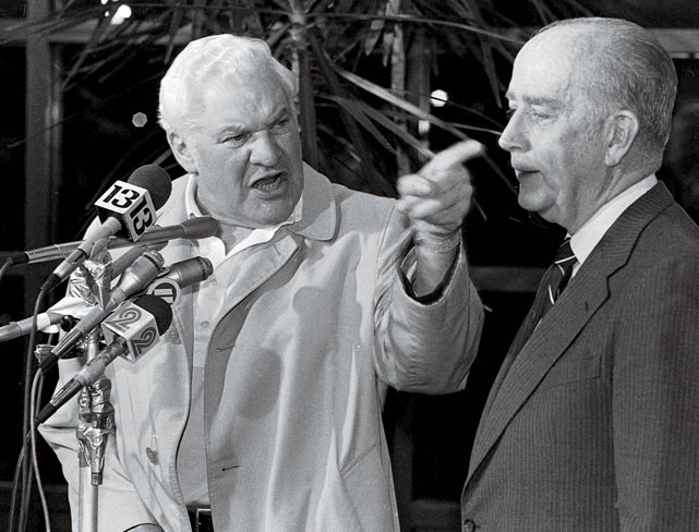 Perhaps no team's relocation has ever been as audacious as the move Baltimore Colts owner Robert Irsay pulled off in 1984. Fearful hat the city would try to claim the struggling franchise as eminent domain, Irsay had the team's possessions packed into moving vans in the middle of the night. By that morning, the team was in Indianapolis.