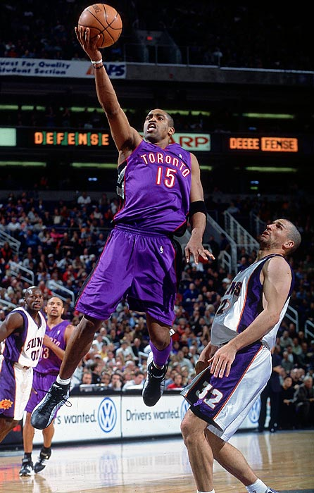 For years, Vince Carter's high-flying dunks were the face of the Toronto Raptors franchise. But Carter's departure from Toronto did not come as gracefully. Carter was traded to the Nets facing allegations of a lack of effort and of having tipped off the Sonics during the playoffs regarding the play the Raptors were about to run. Carter denied both, but didn't exactly ease things over with his former fans a month after the trade, when he admitted in a TV interview that he hadn't pushed himself when he was in Toronto.