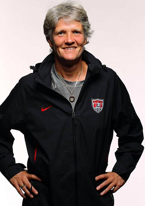 The first foreigner and second woman to coach the U.S., Sundhage took over after the 2007 World Cup debacle and led the team to Olympic gold in Beijing. As a player, she had 146 caps and 71 goals for Sweden and appeared in the 1991 and '95 World Cups.