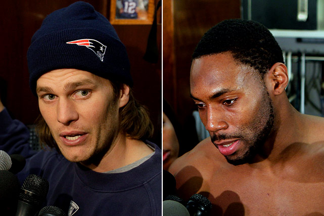 """The boisterous Jets/Patriots rivalry got personal in the week leading up to their divisional round matchup. Jet cornerback Antonio Cromartie was upset with Tom Brady's supposed celebrations, and when asked about them, he called the Patriot's quarterback an """"ass----.""""  Brady took the high road, saying, """"I've been called worse."""""""