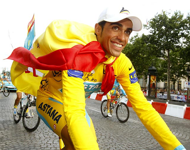 The Spaniard seeks another yellow jersey, despite pending court appeals claiming his ineligibility after testing positive for clenbuterol during the 2010 Tour. Contador denies the allegations, attributing the minuscule traces of the drug to contaminated meat.