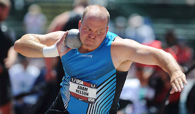 The two-time Olympic silver medalist Adam Nelson won his first U.S. shot put title since 2006 and fifth overall. Joining him on the world championship team were fellow veterans Christian Cantwell and Reese Hoffa.