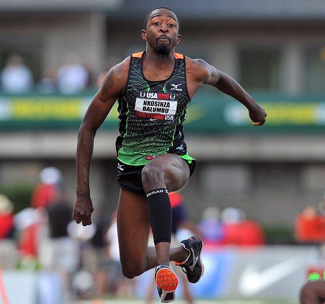 Former Arkansas Razorback Nkosinza Balumbu placed sixth in the triple jump.