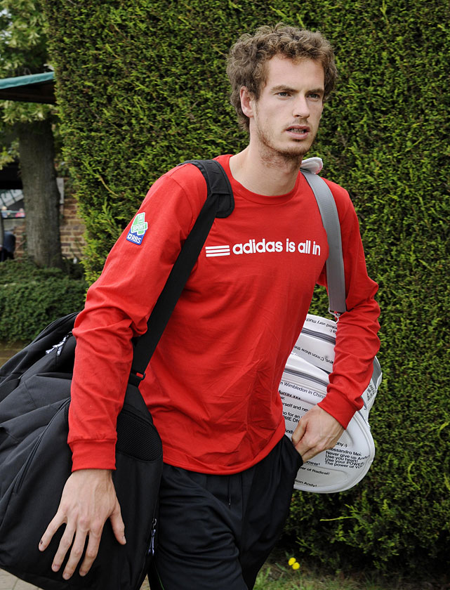 Britain's Andy Murray arrives for a practice session on the Aorangi Courts on Saturday.