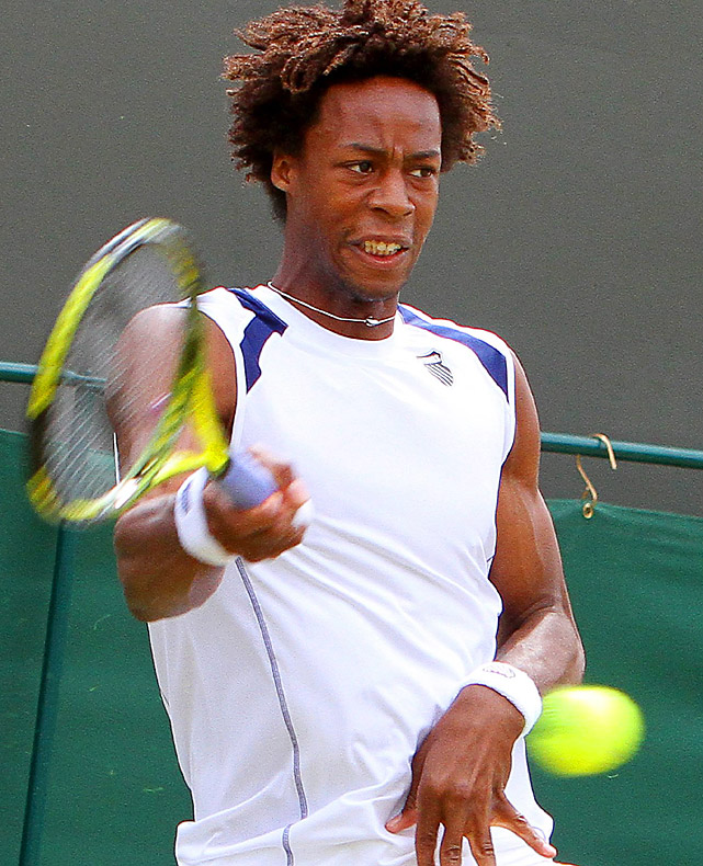 No. 9 Gael Monfils was upset 6-3, 3-6, 6-3, 6-3 by 93rd-ranked qualifier Lukasz Kubot, the first Polish player to reach the men's fourth round since 1980.