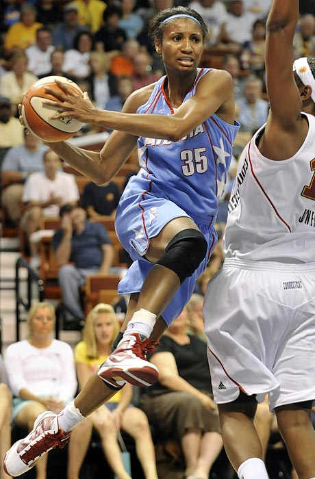 McCoughtry followed up her sensational rookie year by leading the Dream to the 2010 WNBA finals (where they fell to the Storm in three games). Along the way, the former Louisville Cardinal established herself as a legitimate threat on both ends of the court, tallying new career highs in points (21.1), assists (3.1) and rebounds (4.9). Now another year older, the sky is truly the limit for McCoughtry.