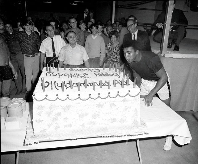 Muhammad Ali celebrated his 25th birthday in 1967 with a 578-pound cake.