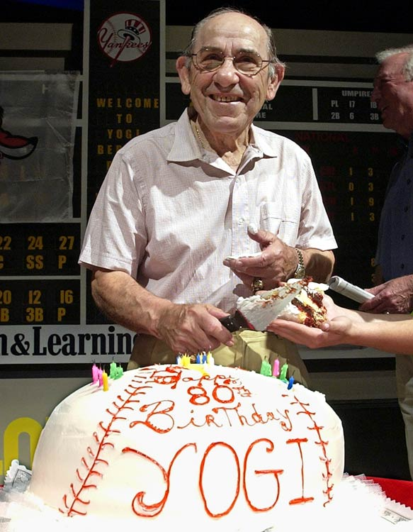 Hall of Fame Yankees catcher Yogi Berra, on the eve of his 80th birthday.