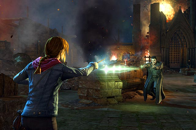 After the less than satisfying  Harry Potter and the Deathly Hallows Part 1 , it's clear EA went back to the drawing board for Part 2. Gone are many of the plodding stealth elements and meaningless exposition. Part 2 replaces most of that with a heavy dose of third-person shooting, er, spell casting, as you play with Harry and other iconic characters mowing down Death Eaters and other Voldemort lackeys with various wand spells. While there's plenty of action, the game never really feels fun. The enemies come in predictable and tedious waves and the level design is pretty uninspired.   The visuals and sound effects are good, and the game follows the events of the movie, but the sum experience isn't likely to please shooter fans or folks wanting more of Harry's magical mojo. This game might be best suited for hardcore Harry fans that can't find what they need in the Room of Requirement.   Score: 5 out of 10