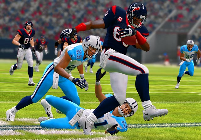 Let's get this out of the way first: this game looks better and plays smoother than last year's. We say it every year, we mean it every year. For graphics, that means individual blades of grass sway in the winds and players run and cut fluidly, without some of those strange hiccups you saw in player movements last year. For gameplay animations, the attention to detail sticks out when players fight for deflected passes and bounce off tacklers at the line. Every level of experience is accounted for, too, from beginners who will go with one button play calling between snaps, to advanced field generals looking to create their own gameplan. EA's most popular franchise is in better shape than the league it simulates right now.   Madden 12 is scheduled for a August 30 release on the Xbox 360,PS3, Wii, PS2 and PSP.