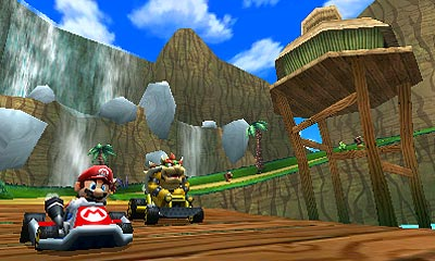 By sticking with a proven formula, Nintendo's iconic racing go-kart racing series never disappoints. The ninth installment in the franchise is no exception, but the 3D effects lend a new dimension (literally) to the gameplay -- making it easier to judge distance and spot items with greater accuracy. Online mode, both for local wireless matches or online via broadband Internet connection, enables multiplayer races and battles. New courses, customizations, character animations and abilities (hang gliding! underwater driving!) are smart additions to one of Nintendo's most beloved and consistently praised franchises.  Mario Kart is scheduled for a fall 2011 release on the 3DS.