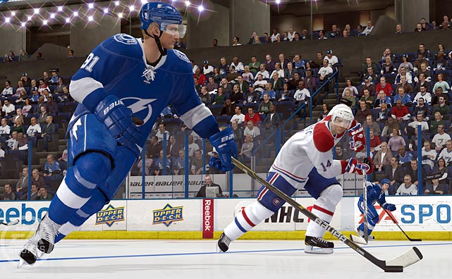 You remember the original Nintendo hockey, where you could pick a skinny, medium or fat player, and they all had different attributes? NHL 12 is just like that...only with razor-sharp HD graphics that look almost identical to a broadcast presentation. The Full Contact Physics Engine adds variety to your checks and skirmishes based on the size of the player, the speed he's moving and the angle at which he's colliding. Players don't just bump and fall down, sticks and limbs fly freely as the puck skips up and down the ice.  New Dynamic Goalies also appear way more active than they have in past builds. The netminders show off more flexible movement than ever before, and they need it - for the first time ever, players can knock the net off the line and smash into goaltenders. Looks like another year on top for EA's hockey franchise.  NHL 12 is scheduled for a September 13 release on the Xbox 360 and PS3.