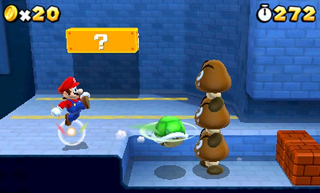 The first Mario title for Nintendo's 3D handheld console brings together the best elements from latter-day 3D platformers like Super Mario 64 and Super Mario Galaxy and the classic side-scrollers of the '80s and '90s. Super Mario is accessible for players of all ages, though veteran players will have a special appreciation for the returns of several long-absent Mario accoutrements like the Tanooki and Raccoon suits, the airships made famous in 1988's SMB3  and flagpoles marking the end of each level. A perfect marriage of nostalgia and innovation, Super Mario is a slam dunk to continue the franchise's stellar track record.  Super Mario is scheduled for a fall 2011 release on the 3DS.