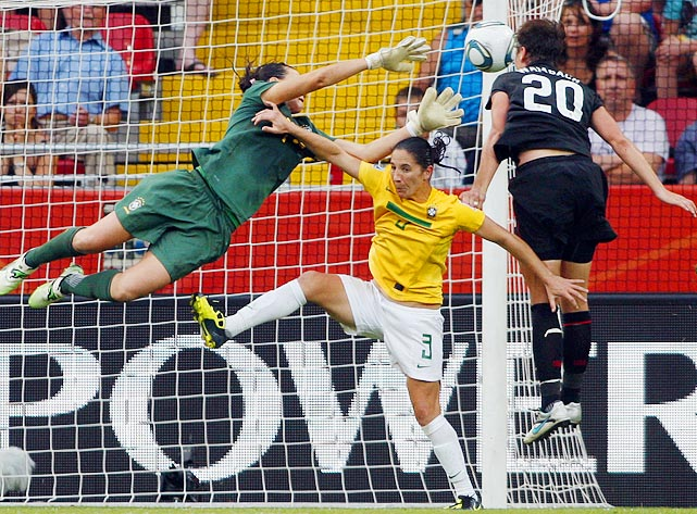 Abby Wambach headed her way into U.S. soccer lore on July 10 when her goal against Brazil sent the World Cup game into penalty kicks, which the Americans prevailed 5-3. Wambach's goal was set up by a great left-footed cross by Megan Rapinoe.