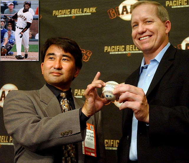 No one is quite sure who caught Barry Bonds' record-setting 73rd home run. Patrick Hayashi left the stadium with the ball, but fellow fan Alex Popov later filed a lawsuit, saying that Hayashi had taken the ball from him during the resulting mayhem in the stands. Game footage proved inconclusive and a lengthy court case concluded with the two fans ordered to sell the ball and split the profits. Todd McFarlane, who also owns McGwire's 70th, bought the ball for $517,000. Unfortunately for Hayashi and Popov, neither is believed to have made a profit due to legal fees.