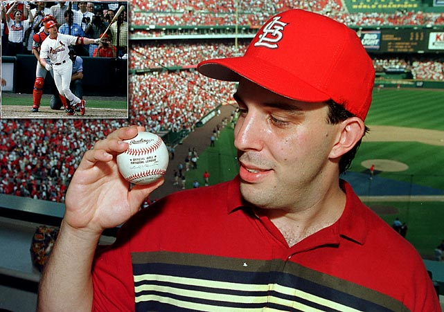 No one has ever cashed in on a baseball like Philip Ozersky has. Sitting in a leftfield luxury box with research scientist coworkers at Busch Stadium, Ozersky caught McGwire's final home run of the 1998 season. A bidding war for the ball resulted a few months later and Ozersky came away about $3 million richer, donating some of the money to charity.