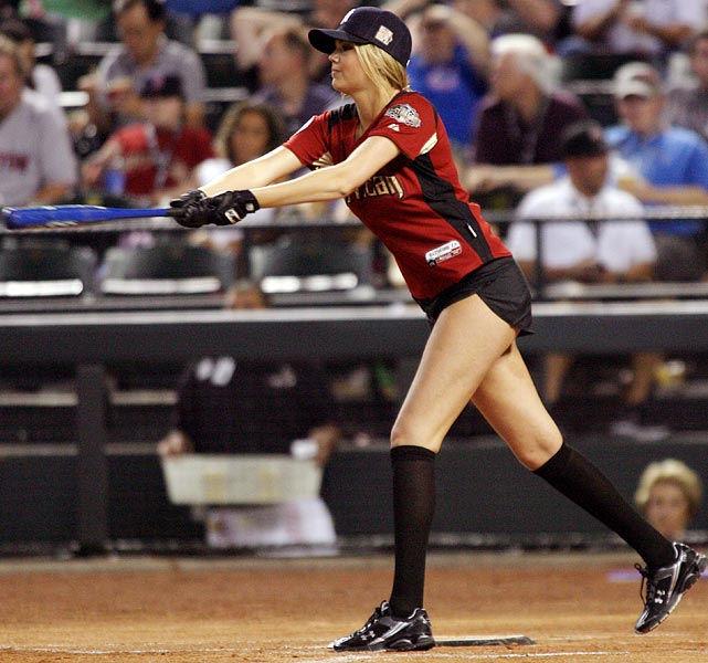 Kate Upton's 2 at bats in The 2011 Celebrity Softball Game ...