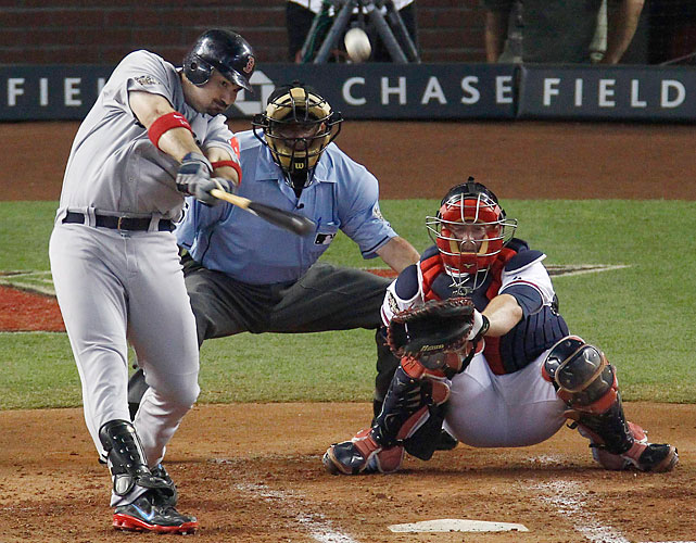 Red Sox first baseman Adrian Gonzalez hit the first All-Star Game home run since 2008 in the fourth inning, but he was quickly trumped by an NL slugger.