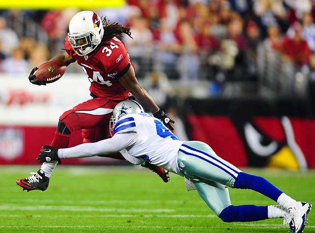 The Redskins added some depth to their backfield by acquiring Tim Hightower from the Cardinals for DE Vonnie Holliday and an undisclosed draft pick. Sharing carries for Arizona last season, Hightower rushed for 736 yards and five touchdowns, but also lost four fumbles. Hightower will like continue to split carries in Washington, where he'll team with Ryan Torain to form a two-pronged attack.