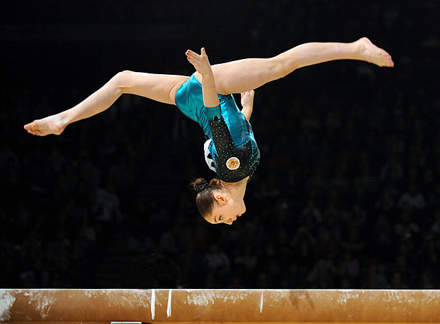 The 16-year-old Russian suffered an ACL tear in April that will likely keep her out of the World Championships in October. Mustafina won the 2010 All-Around World Championship, and will be a major threat for the all-around title in London if healthy.