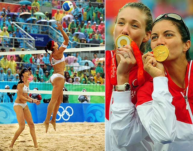 """Since teaming up in 2004, May-Treanor and Walsh have been called """"the greatest beach volleyball team of all time."""" After winning in Athens and Beijing, they are the only beach volleyball team to repeat as gold medalists. After not playing in 2009 due to injuries and the birth of Walsh's two sons, the duo took a disappointing second place in this year's volleyball world championship."""