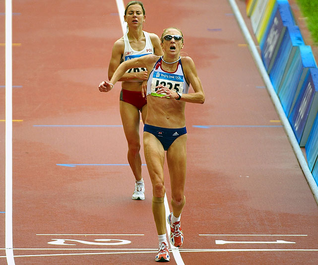 The 37-year-old Radcliffe currently holds the women's marathon world record. In 2003, she finished a race with a time of 2:15:25, a mark that still stands. Radcliffe has won 12 gold medals in a variety of international championships but has never medaled at the Olympics.