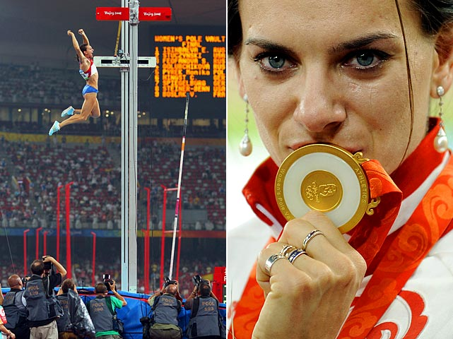 Isnbayeva, considered by many to be the greatest pole vaulter of all-time, will be a heavy favorite when she gets to London. She has won two gold medals ('04 and '08) and is a five-time World Champion.
