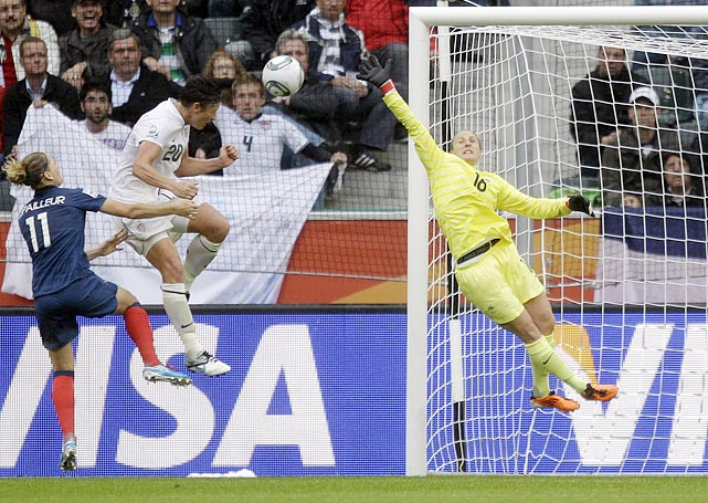 Just days after her dramatic header against Brazil, Abby Wambach gave the Americans a 2-1 lead in the 79th minute of their semifinal match against France.