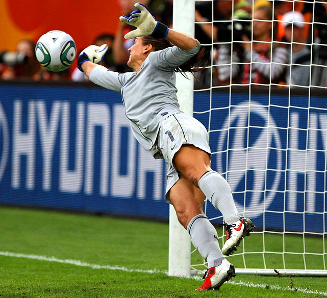 Hope Solo's denial of Daiane's penalty shot made all the difference in the shootout.