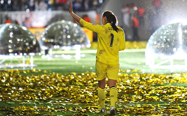 Goalie Hope Solo garnered the biggest U.S. following during the tournament and for good reason. She won the Golden Glove award as the best goalkeeper.