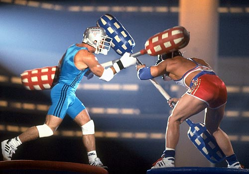 I'm sorry, when I said The League was the first television show about fantasy sports, I was wrong. American Gladiators was the first television show about fantasy sports.