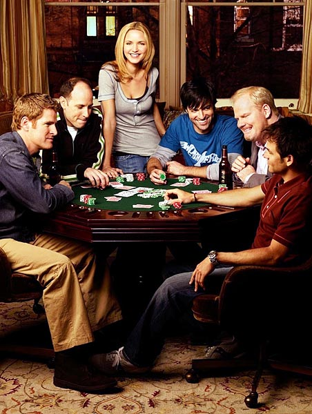 "The much loved but little seen sitcom follows tomboy PJ Franklin, immersed in the jock culture arena both professionally as a sports writer in Chicago, and personally among her group of male pals where she's ""just one of the guys"" man-talking at the poker table. TBS announced show cancellation rather abruptly in 2010, just two days before the fourth season finale."