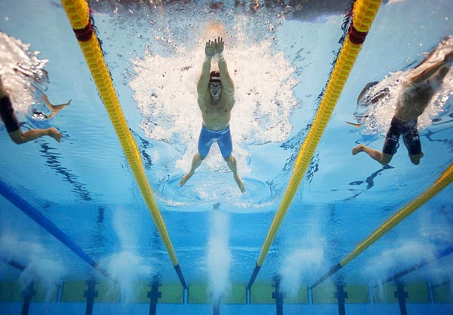 Dale Owen rolled over his competition in the 100-meter breaststroke Monday, finishing in 58.7 seconds. The second-place finisher, Fabio Scozzoli, finished .71 seconds behind. Owen's time was .13 seconds away from the world record, which is held by Australia's Brenton Rickard.