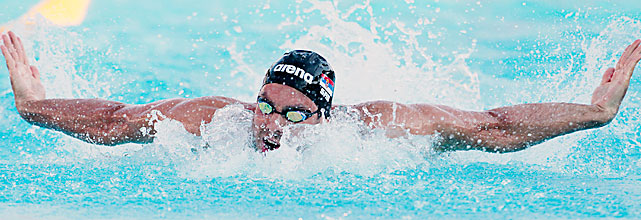 California-born Serbian Milorad Cavic was foiled by Michael Phelps in the 100 fly at the 2008 Olympics and 2009 world championships by a combined 14 hundredths of a second. Cavic is ranked seventh in the 100 fly this year, and he's the defending world champion in the 50 fly, a distance not swum at the Olympics. Potential Events 50 fly 100 fly