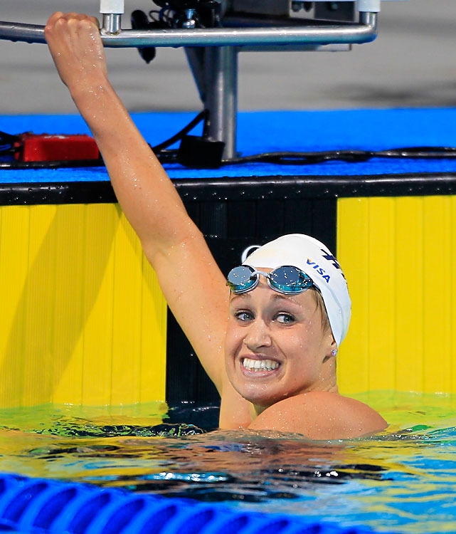 Before Missy Franklin, Katie Hoff was the must-watch teen star of the U.S. team. She made her first Olympic team in 2004 at age 15. Though Hoff has yet to claim an Olympic title, all six of her world medals are gold. She has bounced back from a post-Beijing descent, when she failed to make the world championship team. Potential Events 400 free 800 free relay