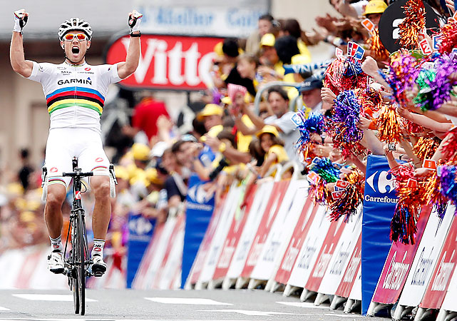 The God of Thunder roared loudly on a mountain stage. Thor Hushovd is known for his sprinting prowess, but he put together the most impressive performance of the Tour to cross first in the Pyrenees.