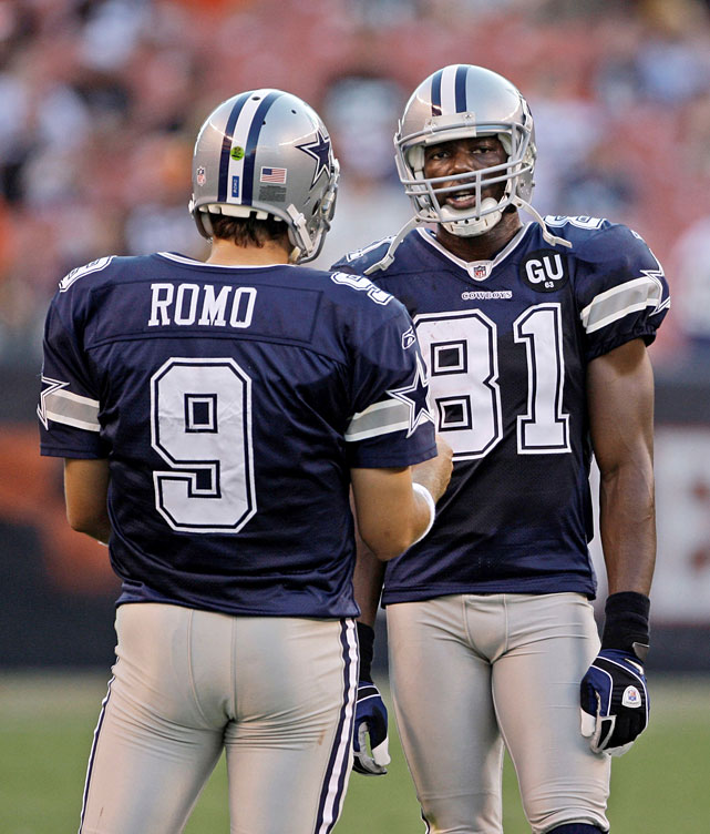 After getting cut by the Dallas Cowboys, Owens blamed Tony Romo and Jason Garrett in a reply to a fan on Twitter:   neither ws i, blame the OC & romo!! but i'm happy 2 b where i am but i miss the other guys tht were & r true teammates!!   T.O. failed to distinguish himself in subsequent stints with Buffalo and Cincinnati.