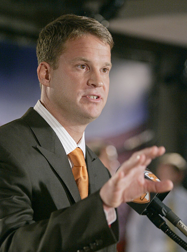 Then the head football coach at Tennessee, Kiffin unwittingly committed an NCAA violation by mentioning a high-school recruit by name:   It's a beautiful day in Knoxville, Tennessee today. I was so exited to hear that J.C. Copeland committed to play for the Vols today!   The school's athletics director said it wasn't actually Kiffin who penned the post in question but an employee in the football office who was updating Kiffin's Twitter page for him.