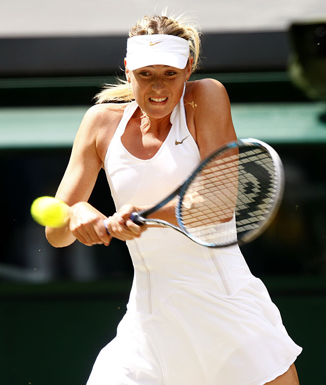 Maria Sharapova plays a return to Petra Kvitova.
