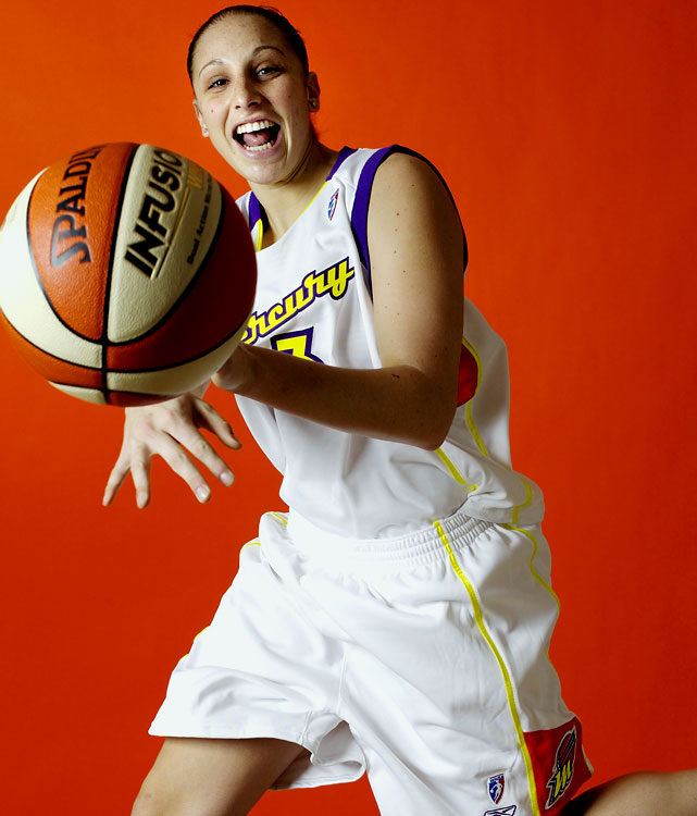 The 2004 WNBA Rookie of the Year, Taurasi is a two-time WNBA champion with the Phoenix Mercury. The five-time All-Star was both the regular season and Finals MVP in 2009. She also is a two-time Olympic gold medalist.  She is joined on the Top 15 WNBA players list by former UConn teammate Sue Bird.