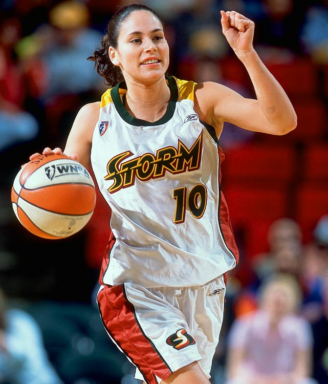 The WNBA revealed at its 2011 All-Star game the top 15 players in league history as selected by fans, media, current players and coaches. Here are the honorees, beginning with Sue Bird, a seven-time All-Star and two-time Olympic medalist. Bird has spent her entire career with the Seattle Storm, was All-WNBA First Team from 2002 through 2005, and led the Storm to WNBA titles in 2004 and 2010.