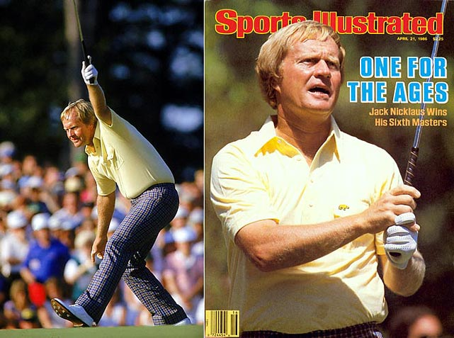 So much for the whispers that the 46-year-old Jack Nicklaus should consider retiring. The Golden Bear produced his record 18th and final major title with a stunning final-round performance at Augusta, where he fired a 30 on the back nine to blow past his younger rivals and end a six-year drought in Grand Slam tournaments. Nicklaus became the oldest player to win the green jacket.