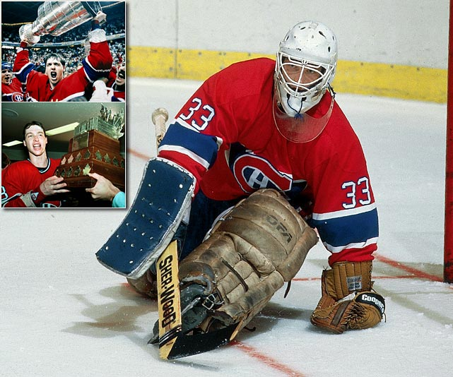 Rookie goaltender Patrick Roy led the Canadiens to a five-game victory against Calgary in the Stanley Cup finals. The 20-year-old Roy became the youngest winner of the Conn Smythe trophy as the most valuable player of the postseason, thanks to a 15-5 record and stunning 1.92 GAA.