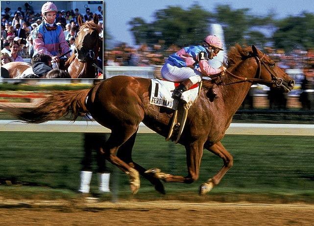 """If Jack Nicklaus can win the Masters at 46, I can win the Kentucky Derby at 54,"" Willie Shoemaker said he was thinking before the 1986 Kentucky Derby. That he did, riding 17-1 long shot Ferdinand to a 21/2-length victory and becoming the oldest jockey in history to win the Run for the Roses."